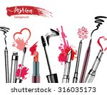 cosmetics  and fashion... | Shutterstock .eps vector #316035173