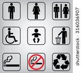 toilet restroom icons | Shutterstock .eps vector #316036907