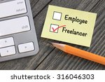 choice of working as freelancer ... | Shutterstock . vector #316046303