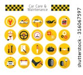 car care and maintenance... | Shutterstock .eps vector #316067597