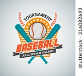 baseball tournament... | Shutterstock .eps vector #316082693