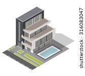 modern residential building... | Shutterstock .eps vector #316083047