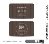 business card template vector... | Shutterstock .eps vector #316089323