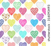 hearts seamless pattern.... | Shutterstock .eps vector #316093493