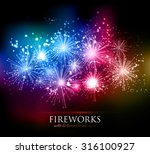 vector abstract holiday... | Shutterstock .eps vector #316100927