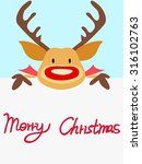 red nosed reindeer christmas... | Shutterstock .eps vector #316102763