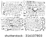 business doodles | Shutterstock .eps vector #316107803