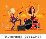 vector rock band flat... | Shutterstock .eps vector #316113437