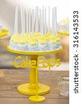 candy bar at a wedding lemon... | Shutterstock . vector #316143533