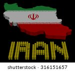 iran barrel text with map flag... | Shutterstock . vector #316151657