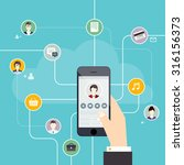 social network vector concept.... | Shutterstock .eps vector #316156373