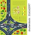 road infographics with highways ... | Shutterstock .eps vector #316162097