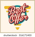 best offer label | Shutterstock .eps vector #316171403