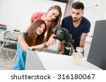 group of young photographer... | Shutterstock . vector #316180067