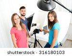 group of young photographer... | Shutterstock . vector #316180103