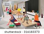 a vector illustration of women... | Shutterstock .eps vector #316183373
