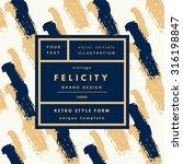 felicity gold luxury vintage... | Shutterstock .eps vector #316198847