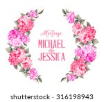 purple garland hydrangea on... | Shutterstock .eps vector #316198943