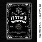 vintage frame border western... | Shutterstock .eps vector #316199213