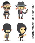 criminal characters | Shutterstock .eps vector #316204787