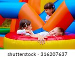 excited kids having fun on... | Shutterstock . vector #316207637