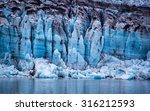 glacier in glacier bay national ... | Shutterstock . vector #316212593