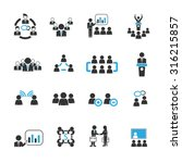 meeting icons vector | Shutterstock .eps vector #316215857
