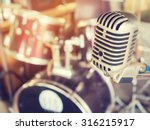microphone in a recording... | Shutterstock . vector #316215917
