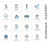 flat design icons set. icons... | Shutterstock .eps vector #316219307