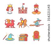 fairy tail icons thin line set. ... | Shutterstock .eps vector #316221143