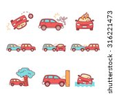 car crash and accidents. thin...   Shutterstock .eps vector #316221473