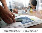 designer hand working and smart ... | Shutterstock . vector #316222337