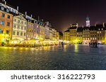 old town sqare in warsaw at... | Shutterstock . vector #316222793