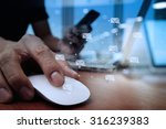 close up of business man hand... | Shutterstock . vector #316239383
