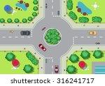vector village roundabout... | Shutterstock .eps vector #316241717