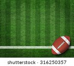 american football with yard... | Shutterstock . vector #316250357