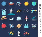 space icons | Shutterstock .eps vector #316255637