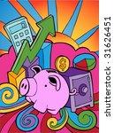 financial banking cartoon  ...   Shutterstock .eps vector #31626451