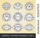 set of vintage line frames and... | Shutterstock .eps vector #316267013
