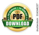 gold pdf download badge with...