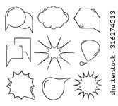 comic speech bubble  hand drawn ...   Shutterstock .eps vector #316274513