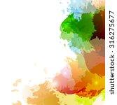 bright colorful paint splatter...   Shutterstock .eps vector #316275677