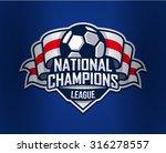 football logo template. vector... | Shutterstock .eps vector #316278557