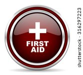 first aid red glossy web icon  | Shutterstock . vector #316297223
