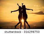 pretty beautiful brunette and... | Shutterstock . vector #316298753