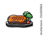 meat doodle | Shutterstock .eps vector #316305863
