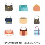 stylish fashion set with trendy ... | Shutterstock .eps vector #316307747