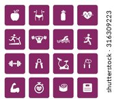 fitness icons. health icon. gym ... | Shutterstock .eps vector #316309223