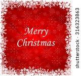 illustration christmas frame... | Shutterstock .eps vector #316323863