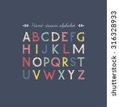 hand drawn serif font.vector. | Shutterstock .eps vector #316328933